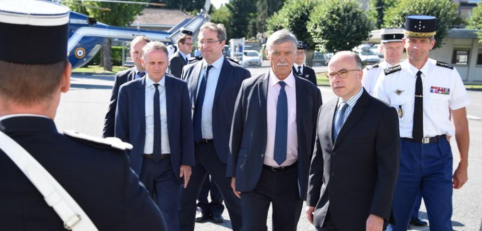 Visite du Ministre de l'Intérieur en Creuse