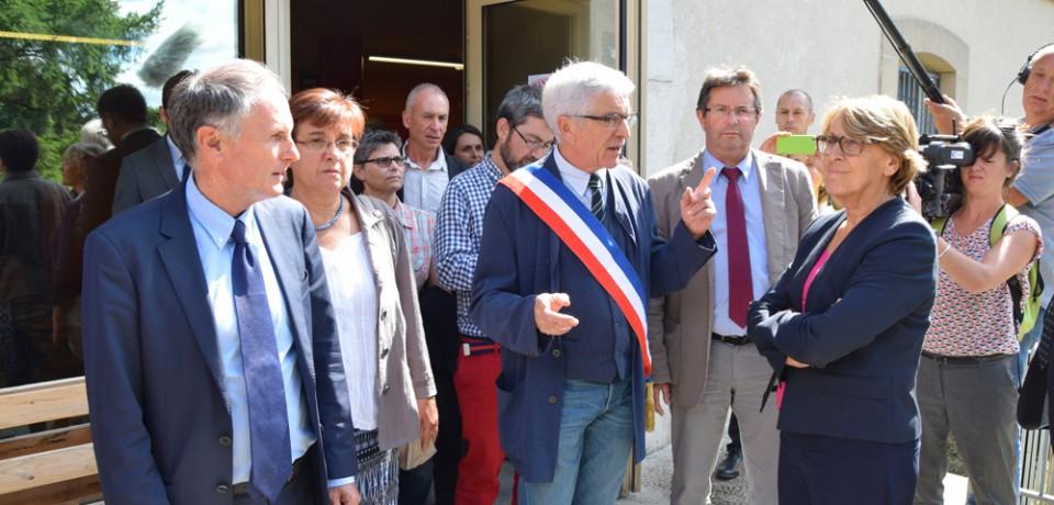 Visite de Marylise Lebranchu à Guéret et Bourganeuf
