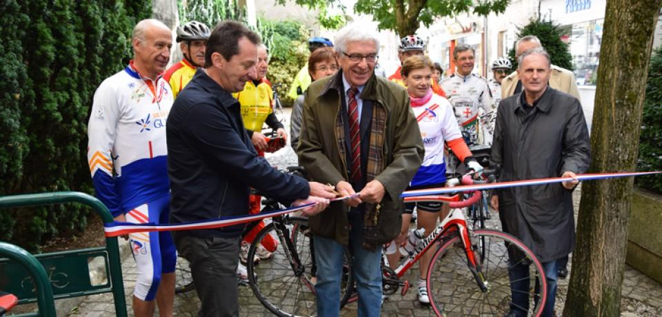 Inauguration de l'étape Véloroute de Bourganeuf