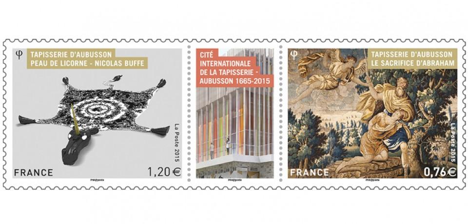 Un bloc de timbres pour faire connaître la Cité de la Tapisserie