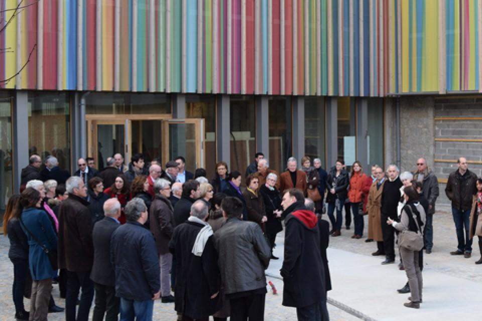 Une réception du chantier pour une avant-première à l'ouverture la Cité internationale de la tapisserie