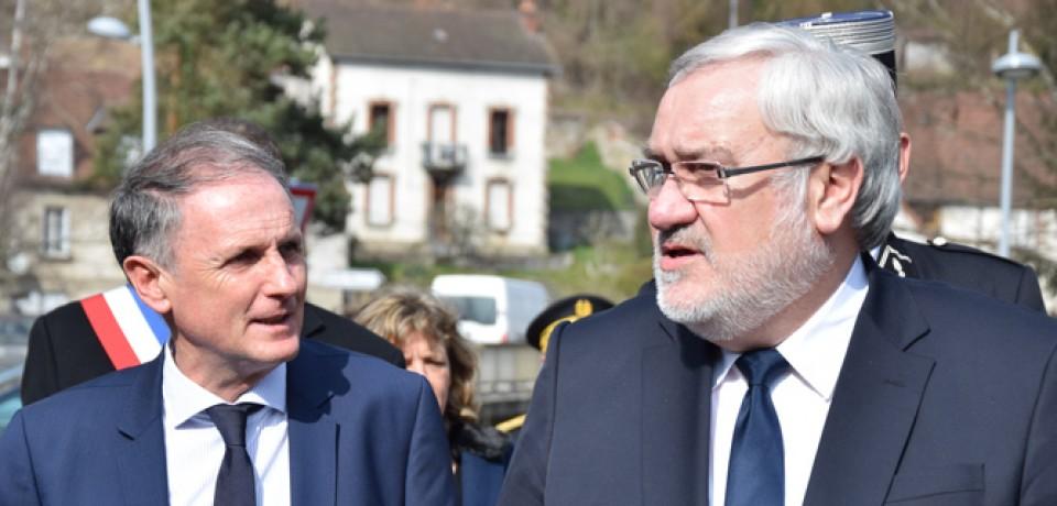 Visite à la Cité de la Tapisserie de Jean-Marc Todeschini, Secrétaire d'Etat chargé des Anciens Combattants et de la Mémoire