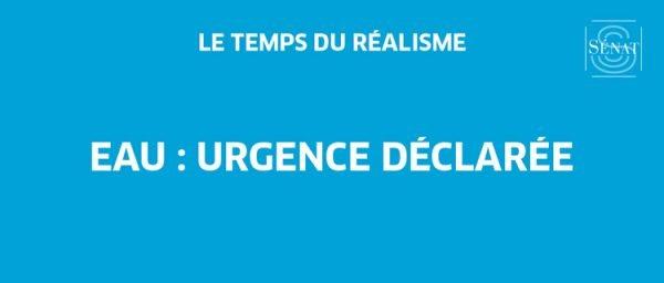 Un rapport d'information - Eau : urgence déclarée