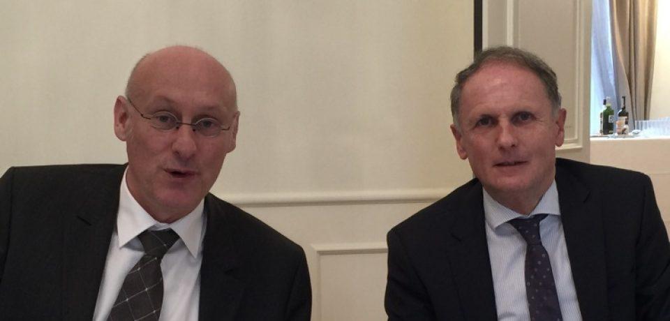 Rencontre au Sénat avec M. Bernard LAPORTE, nouveau Président de la Fédération Française de Rugby, en ma qualité de rapporteur du Budget des Sports au Sénat.