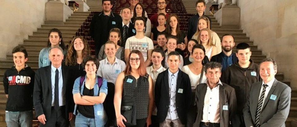Visite du Palais du Luxembourg – élèves délégués du Lycée d'Enseignement Général et Technologique d'Enseignement Agricole d'Ahun.