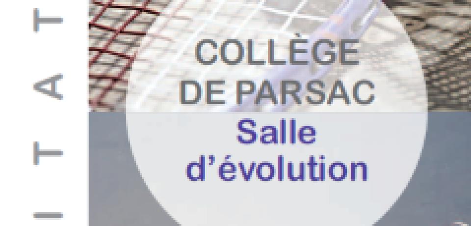 Lundi 18 septembre 2017. Inauguration de la salle d'évolution du collège Octave Gachon de Parsac. Investissement déterminant pour cet établissement scolaire,  achevé en mars dernier, initié et engagé par la précédente Majorité du Conseil Départemental.