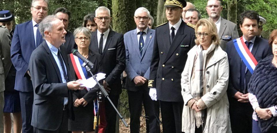 74ème anniversaire du massacre du Bois du Thouraud  Jeudi 7 septembre 2017  Commune de Maisonnisses – Département de la Creuse