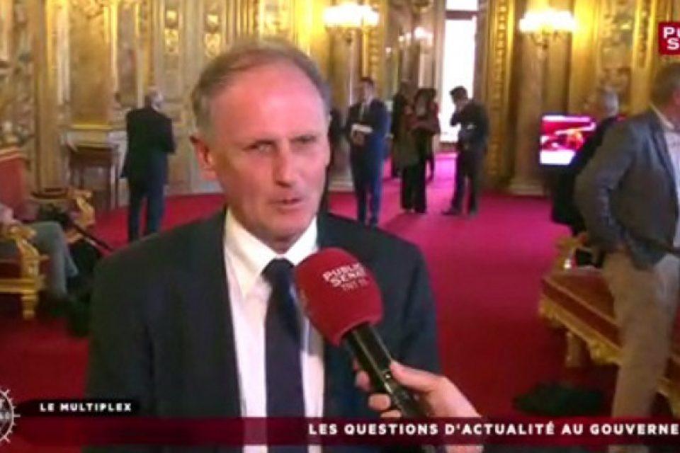 Interview de Public Sénat après réunion de travail à l'Élysée le 17 octobre 2017.