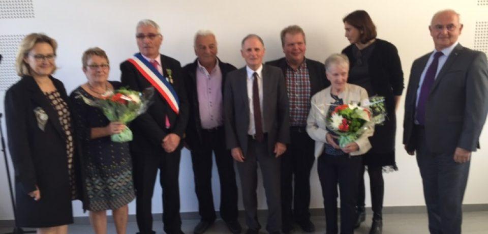 Remise de médailles à St Merd la Breuille samedi 7 octobre 2017.