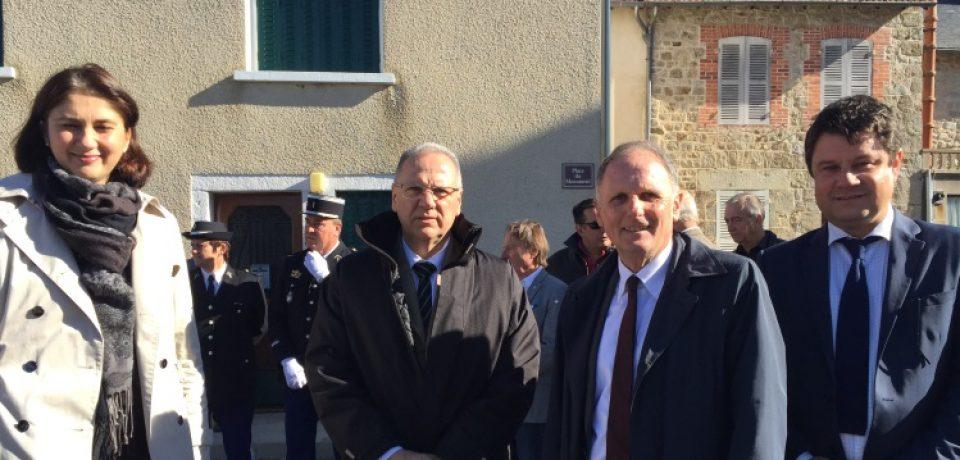 Inauguration des travaux de la traversée du bourg de La Villeneuve samedi 7 octobre 2017.