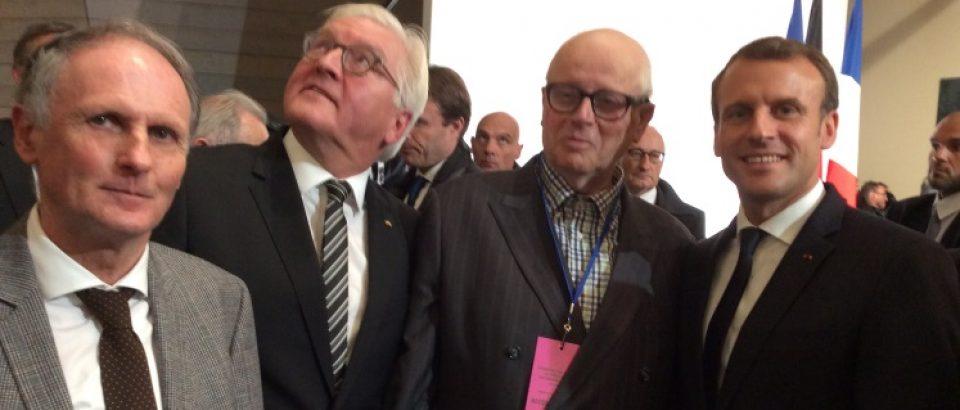 Vendredi 10 novembre 2017. Inauguration de l'Historial franco-allemand du Hartmannswillerkopf