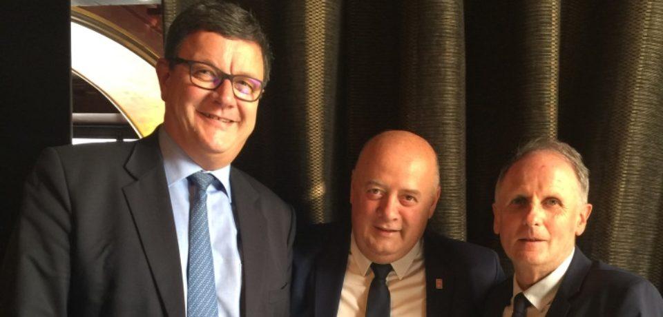 21 février 2018. Rencontre avec Bernard GIUDICELLI, président de la Fédération Française de Tennis.