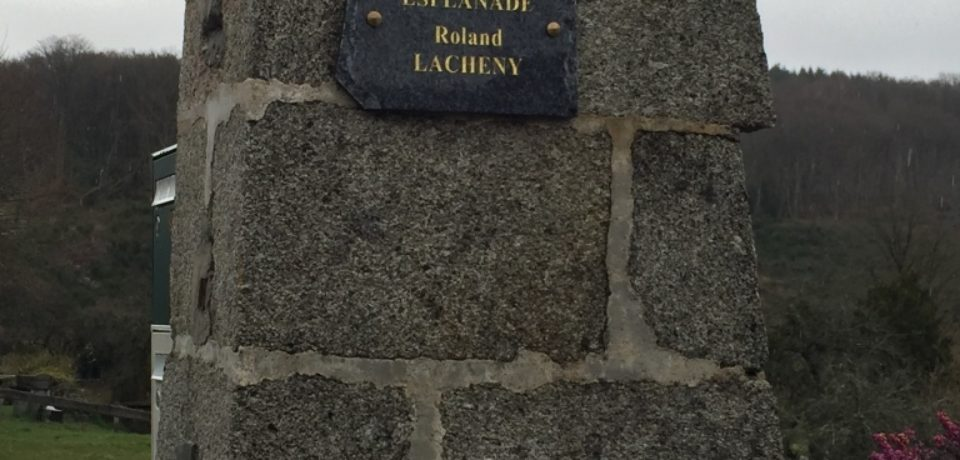 Samedi 31 mars 2018. Inauguration de l'esplanade Roland LACHENY à St ELOI