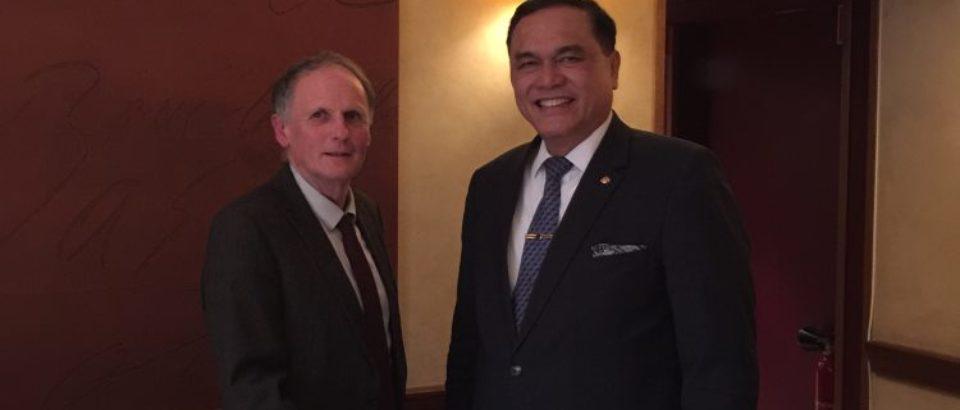Mardi 27 mars 2018. déjeuner de travail du groupe d'amitié France-Indonésie et Timor-Est