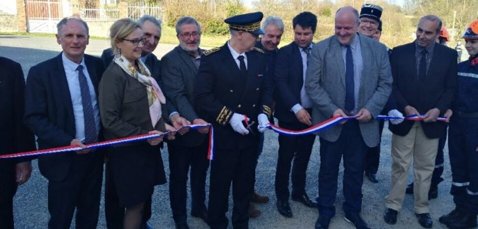 Vendredi 6 avril 2018. Inauguration de l'extension du centre de secours de Measnes.