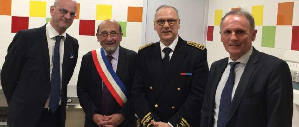 19 mai 2018. Saint Sulpice le Dunois. Inauguration des travaux de rénovation énergétique et d'accessibilité des bâtiments communaux.