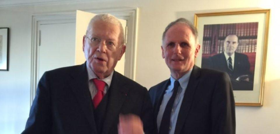 4 avril 2018. Rencontre avec Michel CHARASSE, au Conseil Constitutionnel.