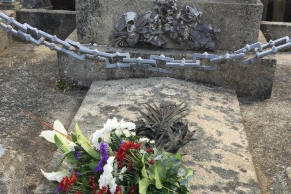 8 mai 2018. Cérémonie de commémoration du 8 mai 1945 et dépôt de gerbe à Bourganeuf.