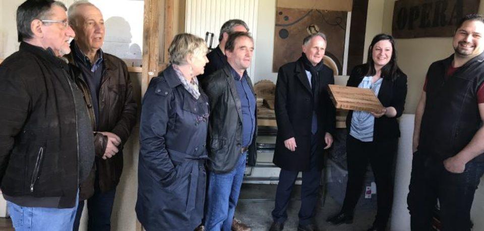 RENCONTRE TERRITORIALE DU SÉNAT – Communauté de Communes Marche et Combraille en Aquitaine – Chénérailles, lundi 16 avril 2018 – Visite d'entreprise OPÉRA CARUSO