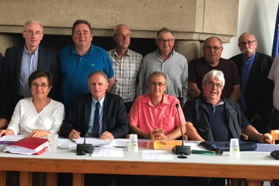 Lundi 18 juin 2018. Réunion des Maires du canton de Bourganeuf. Répartition du produit des amendes de police 2017 et point sur les programmes routiers en investissement et en fonctionnement.