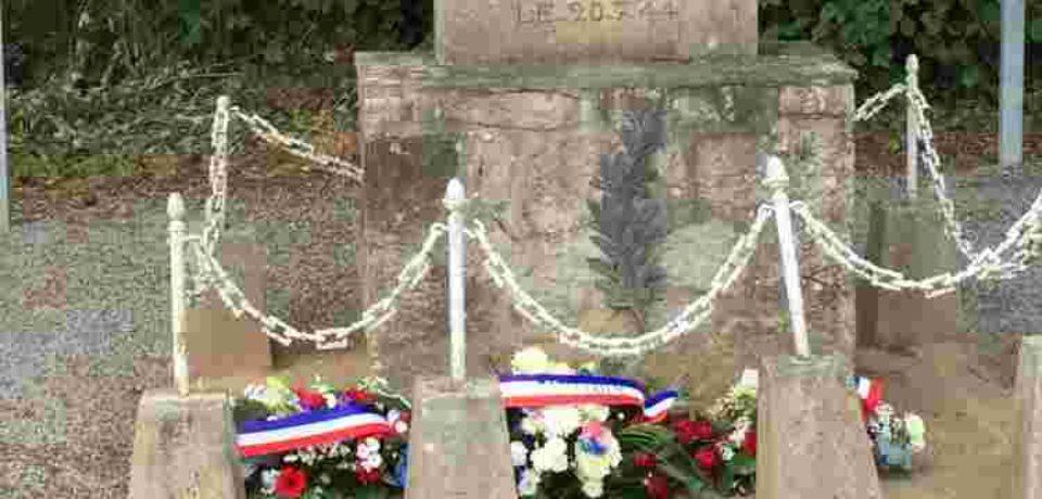22 juillet 2018. St Dizier Leyrenne. Commémoration des massacres de la Croix de la Mine et du Village de Murat.