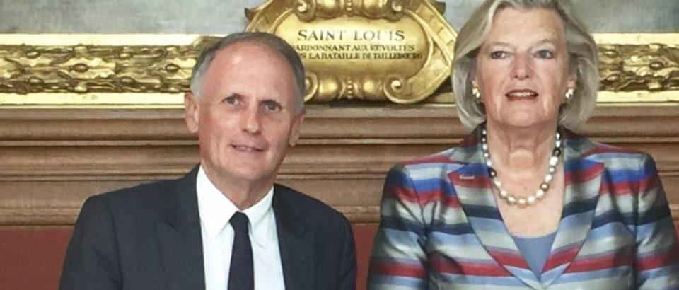 Mercredi 5 septembre 2018, rencontre avec la Présidente du Sénat néerlandais Mme AnkieBroekers-Knoldans le cadre de l'association des Sénat d'Europe que préside cette année le Président du Sénat M. Gérard Larcher.