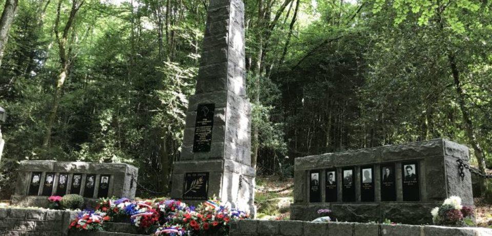 7 septembre 2018. Cérémonie du souvenir du Premier Maquis creusois au monument du Bois du Thouraud, à Maisonisses.