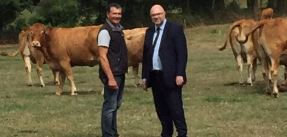 29 août 2018. Visite, dans le département, de Stéphane TRAVERT, Ministre de l'Agriculture et de l'Alimentation.