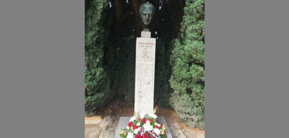 20 octobre 2018. Le Bourg d'Hem. Cérémonie en hommage à Pierre BOURDAN, à l'occasion du 70ème anniversaire de sa disparition.