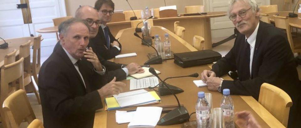 2 octobre 2018. Audition de Jean-Luc ROUGÉ, président de la fédération française de judo, dans le cadre de l'examen du Budget des Sports. Projet de Loi de Finance 2019.