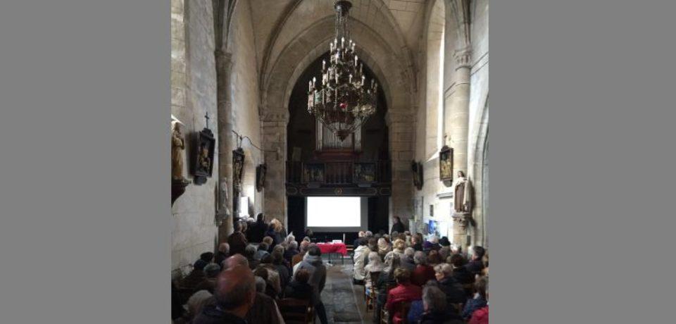 10 novembre 2018. Inauguration des travaux de restauration de l'église de Vallière.