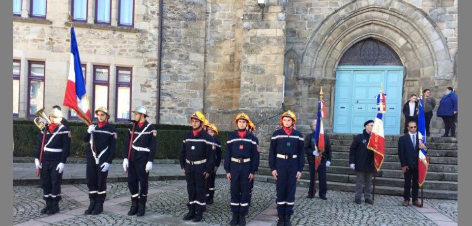 11 novembre 2018. Cérémonie commémorative à Bourganeuf.