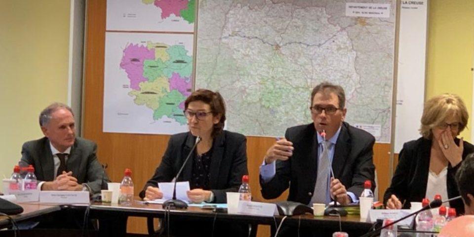 12 novembre 2018. Réunion du comité de pilotage du Plan particulier pour la Creuse, à la préfecture.