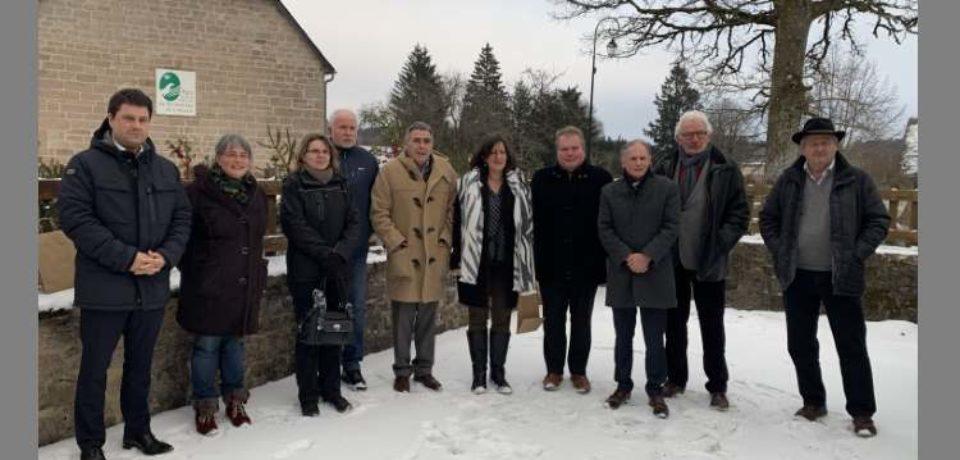 10 janvier 2029. Rencontre des Élus autour de Philippe CONNAN, président du Parc Naturel Régional de Millevaches, à la Maison du Parc.