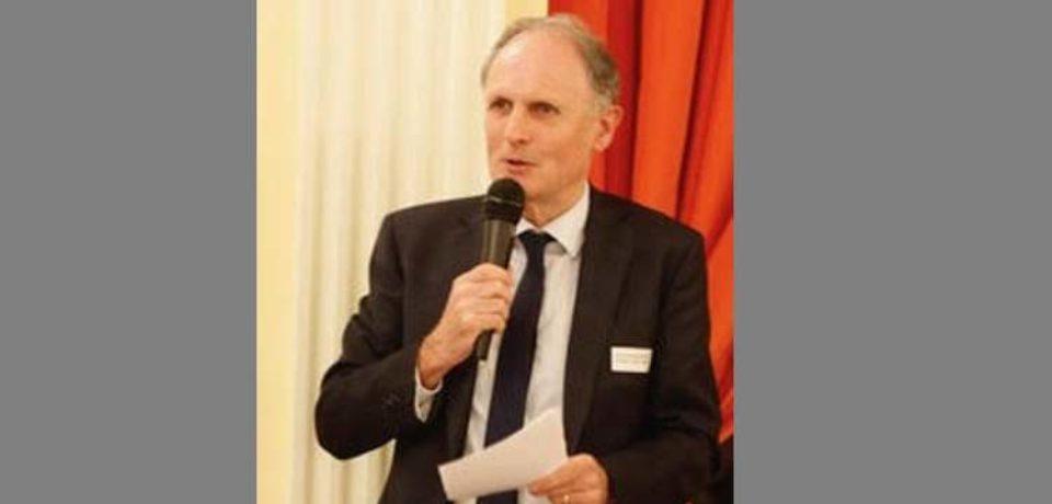 6 juillet 2019. Vernissage de l'exposition Le Mur et l'Espace au centre Jean Lurçat à Aubusson, en présence de Laurent STEFANINI, Ambassadeur de France auprès de l'UNESCO.