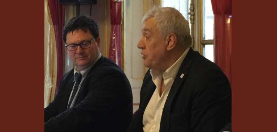 10 avril 2019. Réunion d'échanges avec Claude ATCHER, directeur général du G.I.P. Coupe du monde de rugby FRANCE 2023.