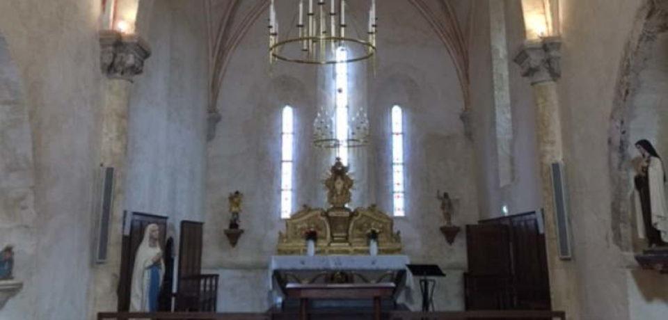 Vendredi 26 juillet. Inauguration des travaux de restauration de l'église de Saint Maurice la Souterraine