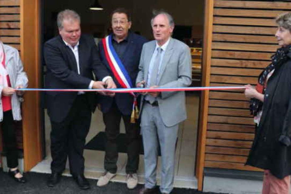 5 octobre 2019. Inauguration du multiservice de Saint-Dizier-Leyrenne.