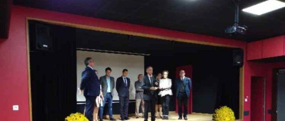 31 octobre 2019. Inauguration de la salle des Fêtes de Gioux.