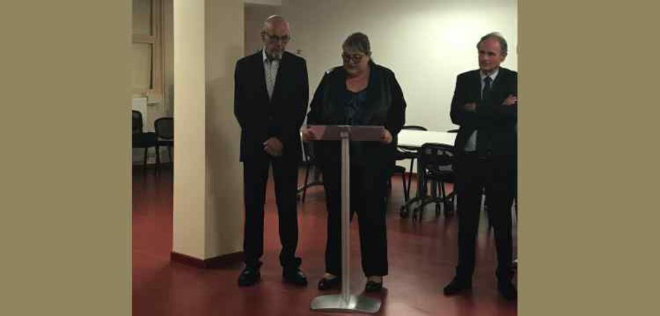 9 octobre 2019. Inauguration de l'accueil médical du centre hospitalier de Bourganeuf.