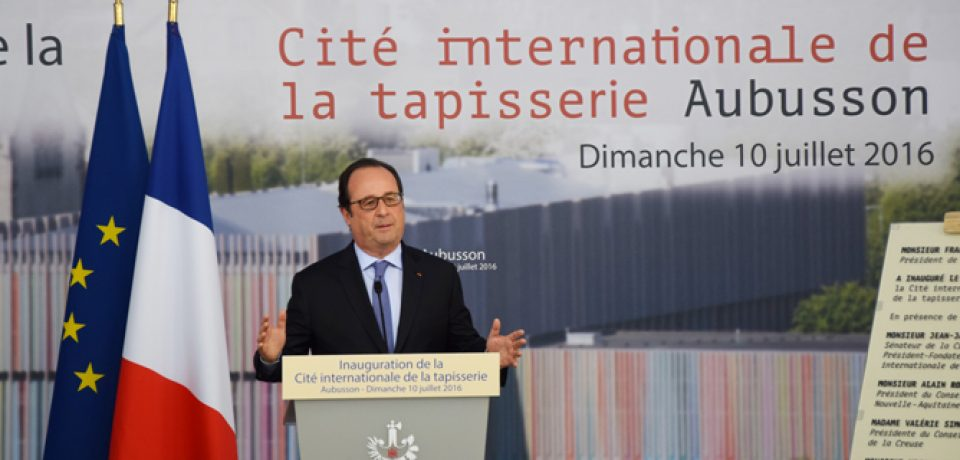 Inauguration de la Cité de la Tapisserie en présence du Président de la République