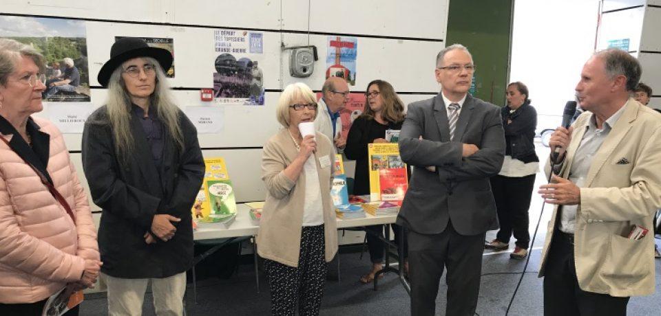 Inauguration de la fête du livre de Felletin, vendredi 11 août 2017
