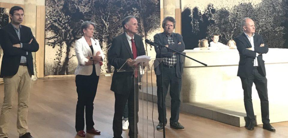 """Vernissage d'exposition. """"L'œuvre ornée de Mario Prassinos"""" – Vendredi 28 juillet 2017 – église du Château – Felletin."""