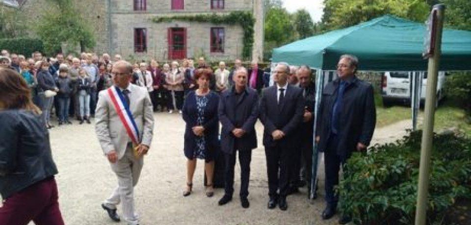 Inaugurations commémoratives à St Martial le Mont. Samedi 16 septembre 2017.