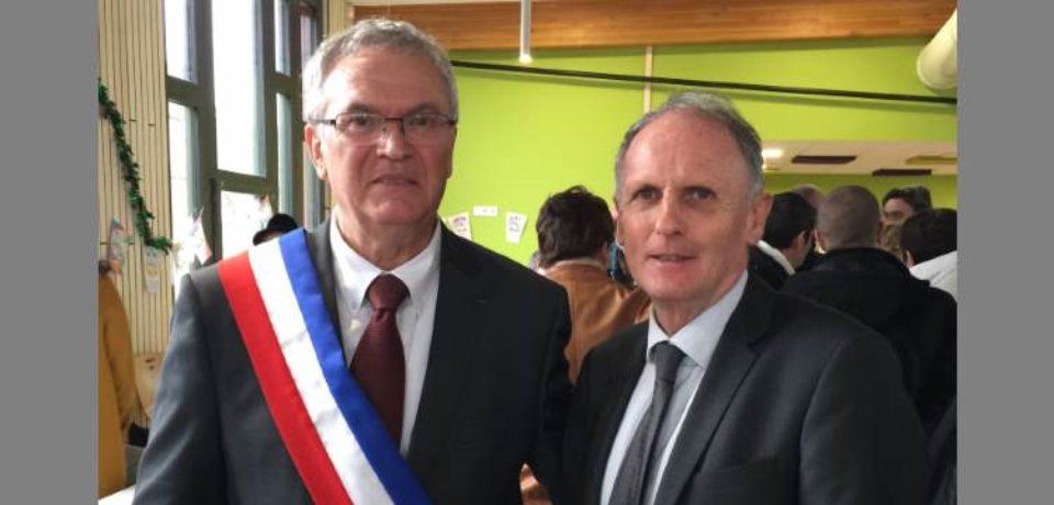 8 décembre 2018. Inauguration de la nouvelle école élémentaire et du restaurant scolaire de Saint Sulpice le Guérétois.
