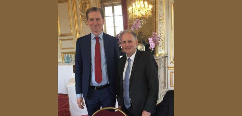 14 mars 2019. Rencontre avec une délégation de Sénateurs néerlandais dans le cadre du Groupe interparlementaire d'amitié.