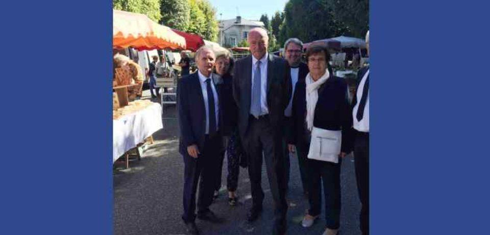 11 septembre 2019. Visite d'Alain Rousset, Président de Région Nouvelle-Aquitaine, à Bourganeuf.