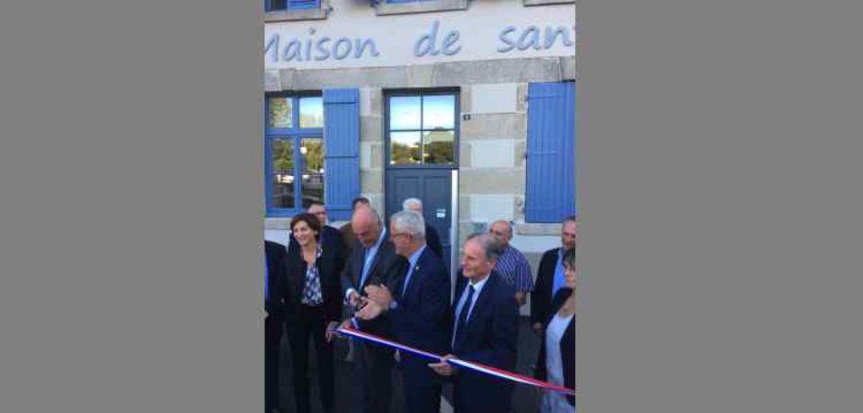11 septembre 2019. Inauguration de la Maison de Santé de Saint-Vaury, en présence d'Alain Rousset.
