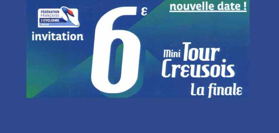 8 septembre 2019. Cérémonie protocolaire de proclamation des résultats et remises de récompenses du mini-tour creusois, à Saint-Dizier-Leyrenne