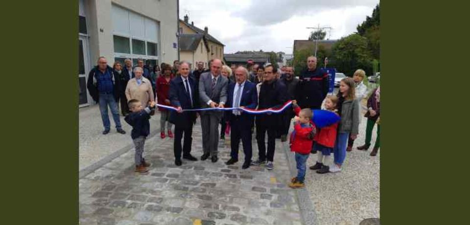 4 octobre 2019. Inauguration de la rue de la Font aux Moines à La Souterraine.